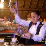 Blanca preparing our Mayan coffee