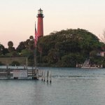 Jupiter Lighthouse from Bubba Gumps