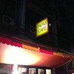 Outside tapas cafe