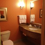 Guest bathroom in suite #114