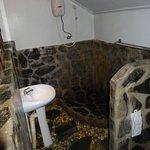 Dusche im Bungalow B6