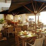 restaurant next to the sea
