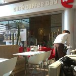 Fab sunny cafe, indoors.
