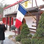 Arriving at LAuberge Chez Francois