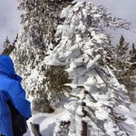 Jon, pointing out unusual steam/frost formation on a tree