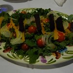 Salade done with vegetable from the hotel's vegetable garden