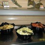 Buffet food selection