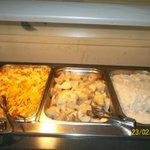 Buffet hot dish selections