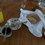 Breakfast and home made bread