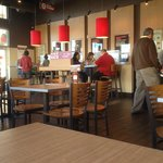 Inside, Smashburger is fresh and new and clean.