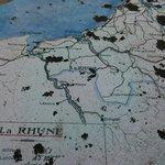 Detalle del mapa que hay en la cima de La Rhune