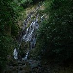 The chorro Macho waterfall, almost dry during the local summer