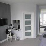 Vanity Area & Door To Bathroom