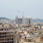 La Sagrada Familia from our Window (zoomed in a bit)