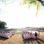 The beach ceremony