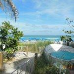 Vista desde la zona del bar de playa
