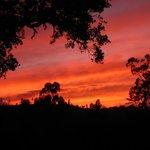Zonsondergang gezien vanaf de b&b