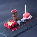 Dark chocolate and raspberry mousse