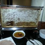 Honeycomb at breakfast