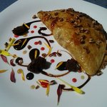 Omelette de chocolate con philadelphia y nuez pecana