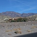 Furnace Creek Inn, looking east from the highway