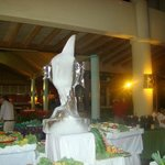Ice sculpture on the Sunday evening