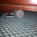 Toys under dresser