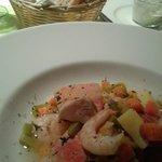 'Bouillabaisse' - Gemüsesuppe mit Fischeinlage