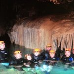 In the cave with our group