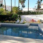 La piscine et le jardin d'agrément