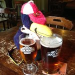 Baggy Penguin loves Hook Norton beer!