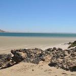 plage à marée basse