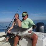 I caught a freaking SHARK!