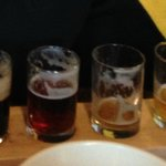 a flight of beers to taste