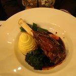 Lamb shank main course