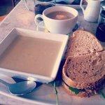 Soup & Sandwich at Leaf