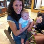 Helping mummy make a lei