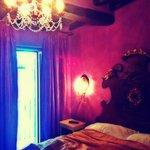 Room 504 (quiet, deluxe room w/ small balcony facing adjacent buildings)