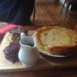 Pie was lovely and filling for 2