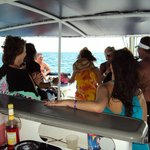 PARTY TIME on the trip to Isla Mujeres... GREAT CREW!!