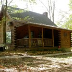 Grapevine cabin in the fall
