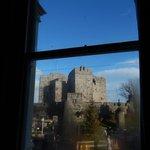 View through room window