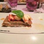 millefeuille de sarrasin tourteaux et homard