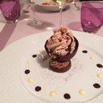 dome chocolat praline