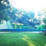 Area de piscina y recreación.