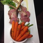 Colorado lamb rack with baby carrots