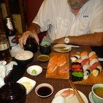 Sushi-Moriawase-A Set and Salmon Sake Set