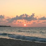 Sunset on the Beach across the road from Negril Yoga Center.