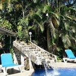 he beautiful pool waterfall