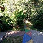 beautiful walkway to the pool or dining